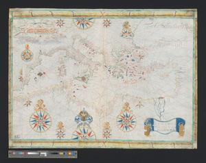 Atlante in 4 tavole, Roussin - Carta del Mediterraneo